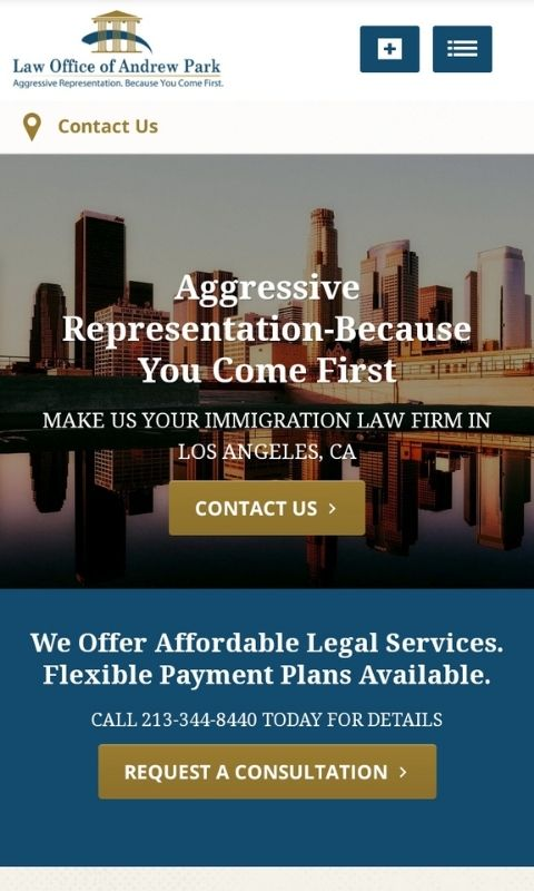 Andrew Park Law mobile